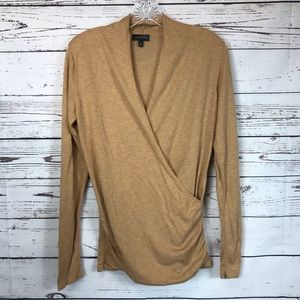 The Limited Wrap Sweater Top Wool Blend M